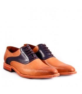 Zapato de vestir en suela combinado