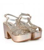 Sandalias en lame oro