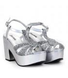 Sandalias en lame plata