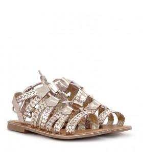 Sandalias de PVC oro