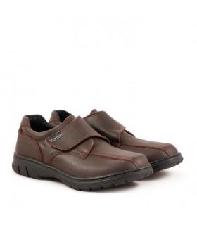 Zapatos colegiales escolares varón de cuero marrón