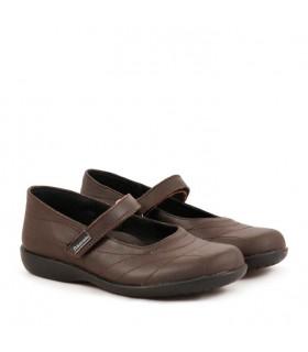 Zapatos guillerminas colegiales escolares nena de cuero marrón