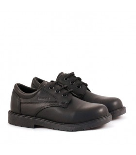 Zapatos  colegiales escolares varón de cuero negro