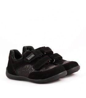 Zapatillas de gamuza negro-invierno 2017