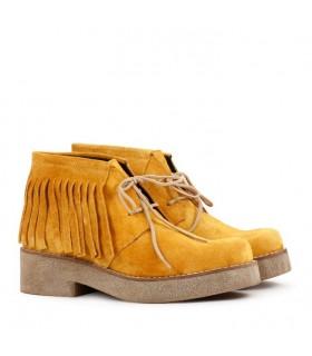 Botas cortas de gamuza maiz