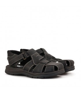Sandalias  franciscanas de cuero negro