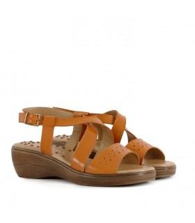 Sandalias de cuero en cuoio