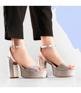 Sandalias de glister plata