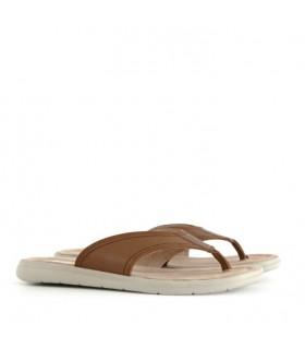 Sandalias de cuero en habano