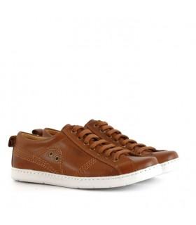 Zapatillas de cuero en marrón