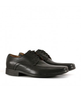 Zapatos de vestir negros acordonado