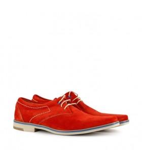 Zapatos de gamuza rojo