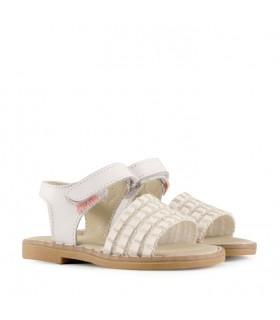 Sandalias de símil cuero para nenas