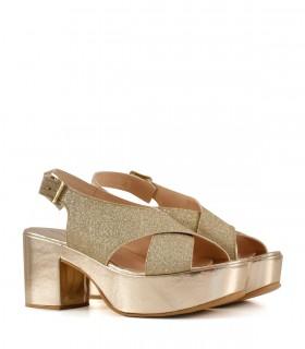 Sandalias de gliter en dorado
