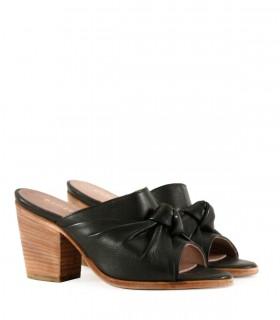 Sandalias de cuero en negro - CONCEPT