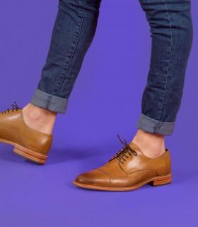 Zapatos de  vestir en cuero en brush/suela