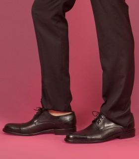 Zapato de vestir en cuero negro