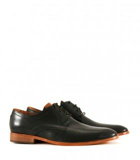 Zapatos de vestir acordonado en cuero negro