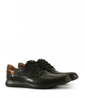 Zapatos de vestir acordonados en cuero negro