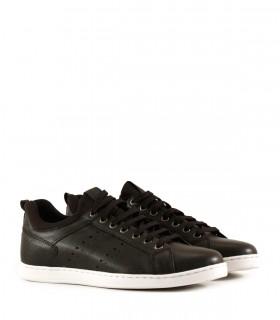 Zapatillas clásicas de cuero negro
