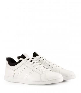 Zapatillas clásicas de cuero blanco
