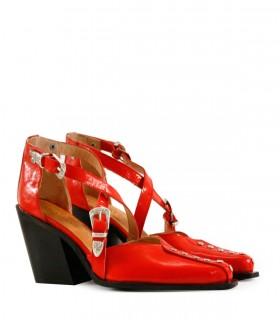 Zapatos de fiesta en charol rojo