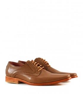 Zapatos de vestir de cuero marrón