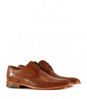 Zapatos de vestir acordonado en cuero marrón