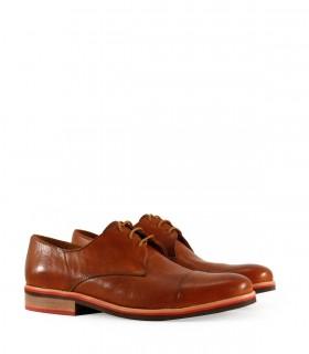 Zapatos de vestir en cuero tabaco