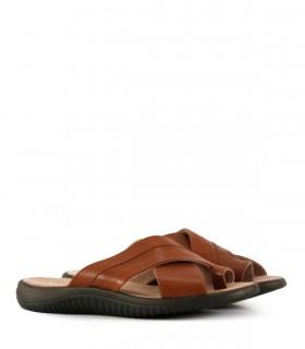 Sandalias de cuero en suela picado