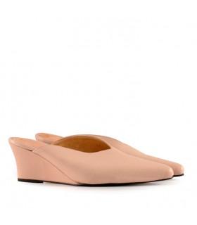Zapatos de cuero natural con taco chino