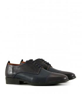 Zapatos de vestir de cuero en azul