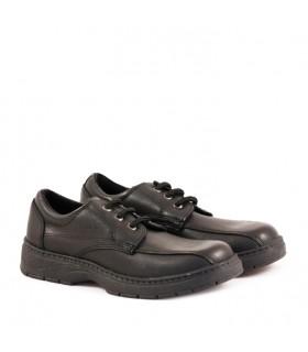 Zapatos colegiales de cuero negro con abrojo del 27 al 33