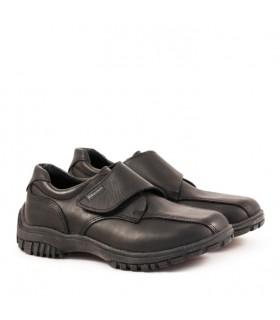 Zapatos colegiales abotinados con abrojo de cuero del 27 al 33