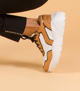 Zapatillas de cuero en suela combinado