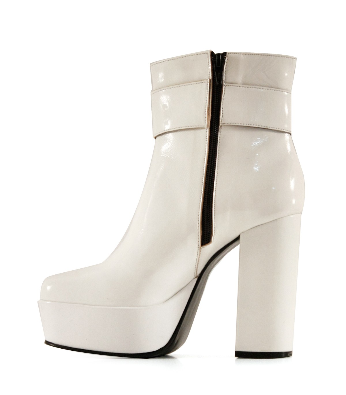 modelos de gran variedad garantía limitada amplia selección de diseños Botas cortas de charol blanco|Mujeres|Batistella