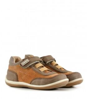 Zapatos de cuero en choco con velcro