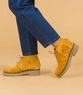 Botas cortas de gamuza maíz