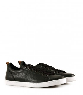 Zapatillas de cuero negro