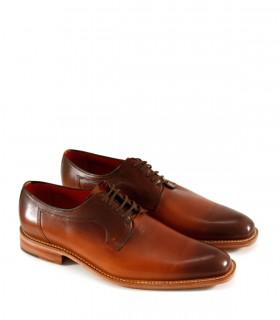 Zapatos de vestir pintados a mano de cuero suela