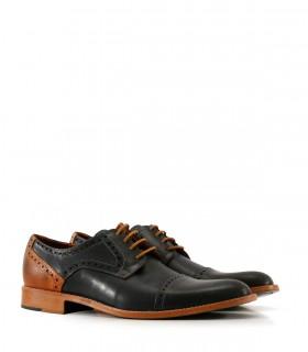 Zapatos de vestir en cuero azul
