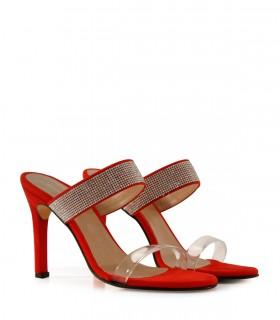 Sandalias de fiesta en gamuza rojo