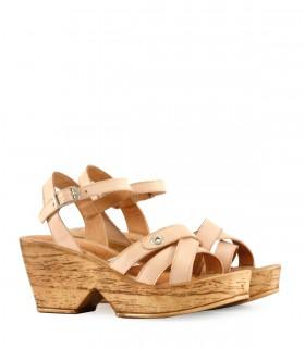 Sandalias clásicas de cuero nude