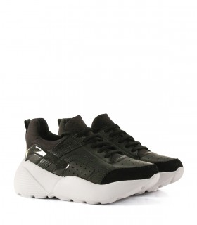 Zapatillas urbanas de cuero con plataforma