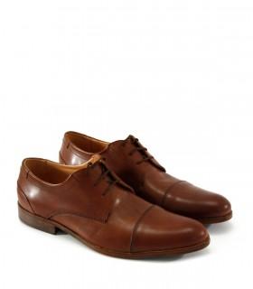 Zapatos de vestir en cuero caoba