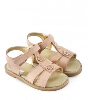 Sandalias de cuero nude con detalles