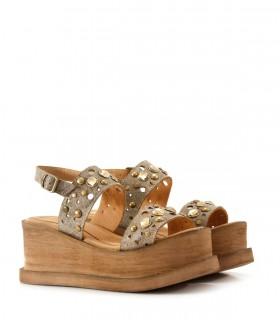Sandalias bases de cuero en hueso