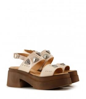 Sandalias base de cuero nude
