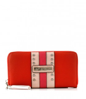 Billeteras de símil cuero en rojo
