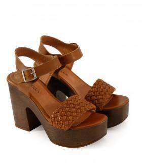 Sandalias con plataforma de cuero suela